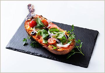 アメリアの熱々バゲットピザ