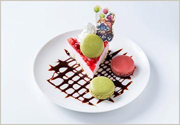 モーリーの風船マカロンストロベリーアイスケーキ